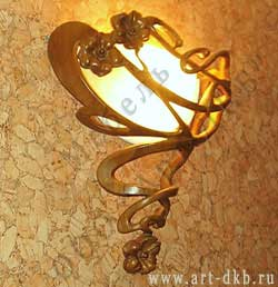 "Lamp. Wood carving of LLC ""Art-DKB""."