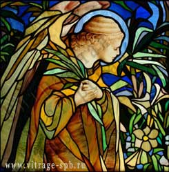 "Stained-glass ""Angel"". Combination of techniques."