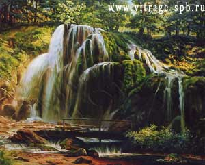 Picture. Painting. Landscape. Falls. Oil on canvas' width=