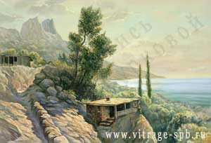 Picture. Painting. Landscape. Crimea. Oil on canvas' width=