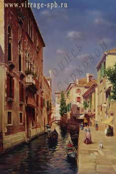 Picture. Painting. Landscape. Venice. Oil on canvas